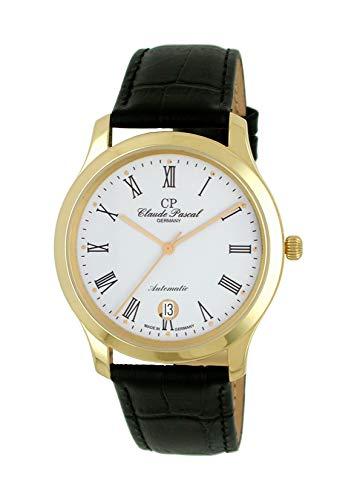 Claude Pascal 394293 ER - Orologio da polso automatico da uomo, oro giallo 750, 18 carati, diametro 38,5 mm