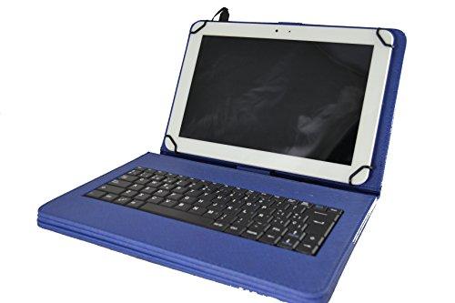 Tasche mit abnehmbaren Tastatur in Spanisch (inklusive Ñ) Tablet Bq Aquaris M10 / Edison 3 Bq / Woxter QX105-103 / Samsung Galaxy Tab 9.7