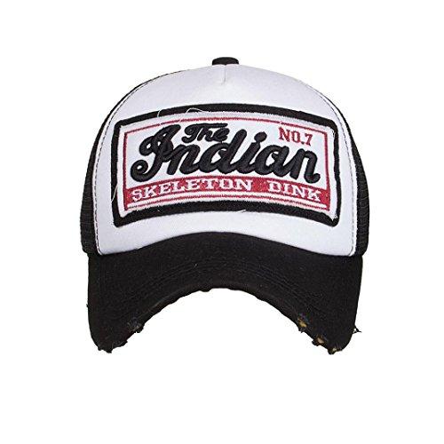 Imagen de ☀️   de béisbol casuales unisex, de verano bordada sombreros de malla para hombres mujeres sombreros casuales hip hop absolute negro  alternativa