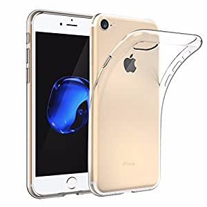 EasyAcc iPhone 8 / iPhone 7 Custodia, [Funziona la ricarica wireless] morbido TPU Custodia Cover Cristallo limpido trasparente Slim anti scivolo custodia protezione posteriore Cover antiurto per iPhone 8 / iPhone 7