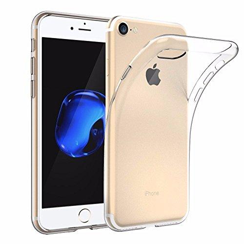 [Unterstützt kabelloses Laden (Qi)] EasyAcc iPhone 7 Hülle iPhone 8 Hülle Case Transparent Handyhülle Schutzhülle Durchsichtig TPU Crystal Clear Case Backcover Bumper Slimcase - Grau clear Hülle