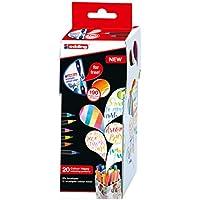 edding Colour Happy S20 Boîte de 20 Feutres à pointe pinceau/encre aquarellable