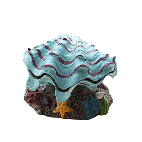 LUFA Dekoration Aquarium Fisch Behälter Luftblasen Kamm Muschel Shell Ornamente Belüftungs Pumpe