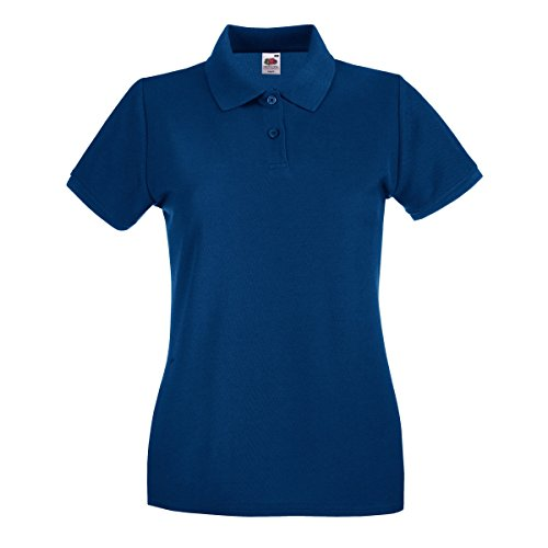 Fruit of the Loom Premium Polo Lady-Fit - Farbe: Navy - Größe: XXL - Frauen Polo-shirts