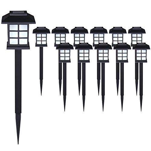 Set de 12x lampes solaires LED Lumière pour jardin balon terrasse