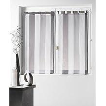 Vitrage rideaux for Rideaux cuisine 70 x 120