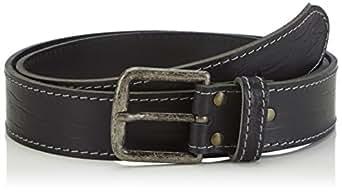 Mustang Jeans - Ceinture - Homme - Noir (Black 440) - FR : 87 (Taille fabricant : 85)