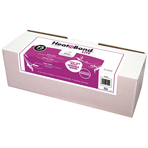 Thermoweb 3524 Heatn Bond Lite Iron-On Adhesive 17 in. x 75 Yards- - Case of 75
