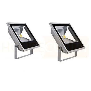 Faro LED 50W Kit 2Stück für Außen mit leistungsstarken Dual LED IP65A Kaltweiß Scheinwerfer Garten Leuchtturm mit Bühnen Beleuchtung Haus Beleuchtung Stand Leuchtturm in Aluminium Kaltlicht