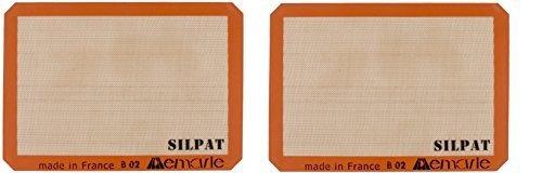 Silpat AE420295-07 Premium Non-Stick Silicone Baking Mat, Half Sheet Size, 30cm x 42cm (2 pack) - Silpat Non-stick Baking Mat