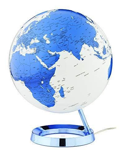 Idena 10411 Mappamondo Illuminato con Cartina Politica e Immagini a Stella Circa 25 cm di Diametro