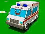 Lernen von geometrischen Formen mit lustiger Krankenwagen