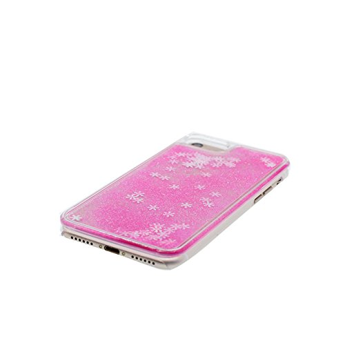 iPhone 6 Plus Custodia, Copertura iPhone 6s Plus, [ Liquido che scorre nuoto divertente Sparkle Bling trasparente protezione completa anti-gra] [ porpora ] Cover iPhone 6S Plus Case penna di tocco # # 7