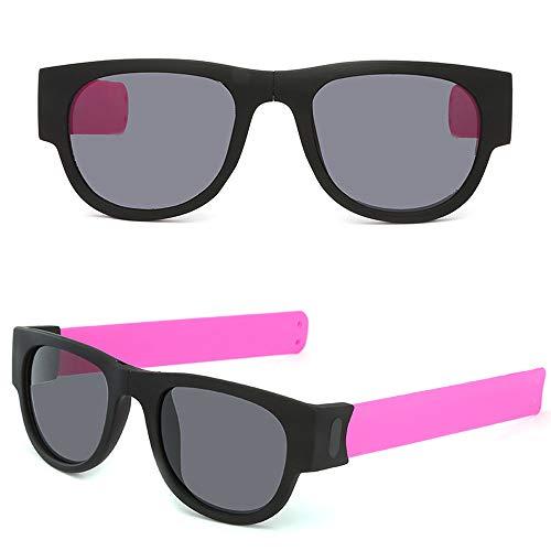 Sonnenbrille Unisex Brillenträger Kreative ArmbandbrillePolarisierte Sonnenbrille Schutzbrille Snap Armband Mode Klassische UV-Schutz Brille zum Radfahren Autofahren Laufen Wandern Sport