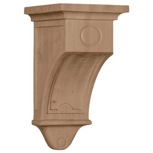 Arts Crafts Corbel (Ekena Millwork COR05X05X09ARRW 5-Inch W x 5-Inch D x 9-Inch H Arts and Crafts Corbel, Rubberwood by Ekena Millwork)