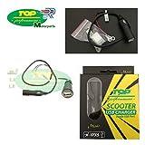 Prise connecteur charge Batteries USB 1224V pour piaggio mP3500Sport Moto et Scooter