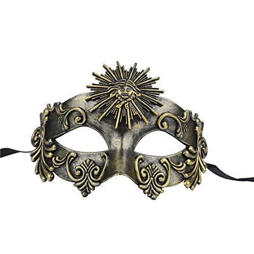 FunPa Venezianischen Masken Vintage Maske Maskerade Ball Maske Griechischen Römischen Helios Party Prom Ball Cosplay Kostüm Verkleiden Sich Zubehör für Karneval Mardi Gras Maske Halloween - Griechisch Römischen Kostüm Zubehör