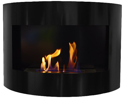 Bio-Ethanol Fireplace RIVIERA Deluxe Black