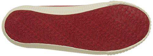 Pepe Jeans Industry Low Basic, Scarpe da Ginnastica Basse Donna Rosso (Red)