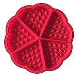 Hanseatic Consumables Silikon Waffelherzform | 17,5x1,5cm | Antihaftbeschichtet | BPA Freies Lebensmittelsilikon | Geschmackneutral | Geruchsneutral