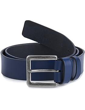 Ladeheid Cinturón de cuero para hombre 4 cm J31