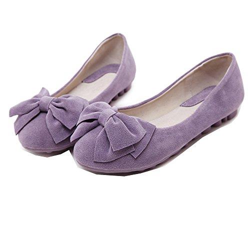 Mädchen Bogen Weiche Einzelschuhe Gemütlich Flache Schuhe Ballerinas Lila