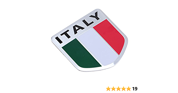 Possbay Auto Aufkleber 3d Flagge Embleme Aluminum Italien Flagge Italy Flag Auto