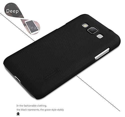 Best Deals - Nillkin Frosted Hard Back Cover Case+Screen Guard for Samsung Galaxy Grand Max - Black