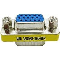 Adaptador Conector VGA DB15 15 pines Macho Hembra VGA SVGA Conversor Genero 2261