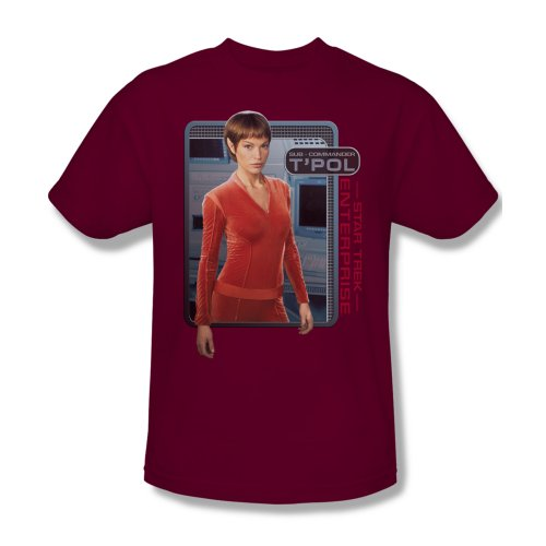 Mens STAR TREK Short Sleeve T'POL T-Shirt Tee Size S-3XL