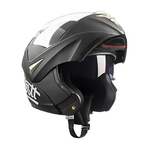 Westt Torque · schwarzer Motorradhelm mit Doppelvisier. Klapphelme ECE genehmigt und 5 Jahre...