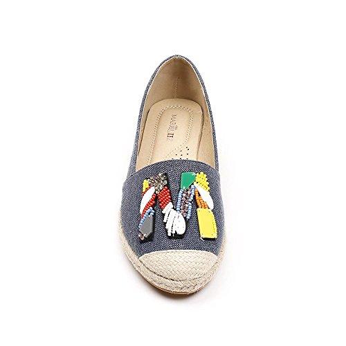 Ideal Shoes, Damen Slipper & Mokassins Marine