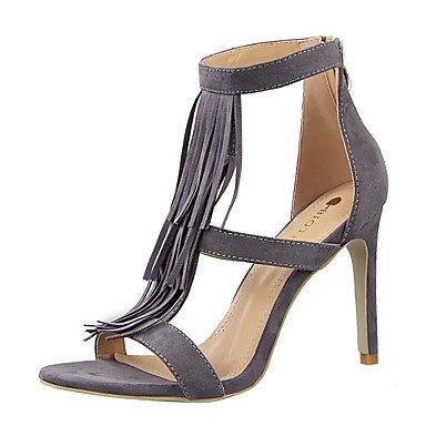 Zormey Damen Sandalen Komfort Im Sommer Wildleder-Kleid Stiletto Heel Quaste US7.5 / EU38 / UK5.5 / CN38