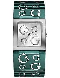 Guess - W10102L4 - Montre Femme - Quartz Analogique - Cadran Gris - Bracelet en Résine Vert