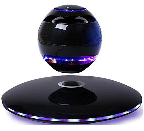 Altavoces Bluetooth de Levitación LED Multicolor Bluetooth inalámbrico portátil Altavoz Flotante del Maglev de La levitación Giro en 360 grados Con Micrófono (Blanco) (Negro)