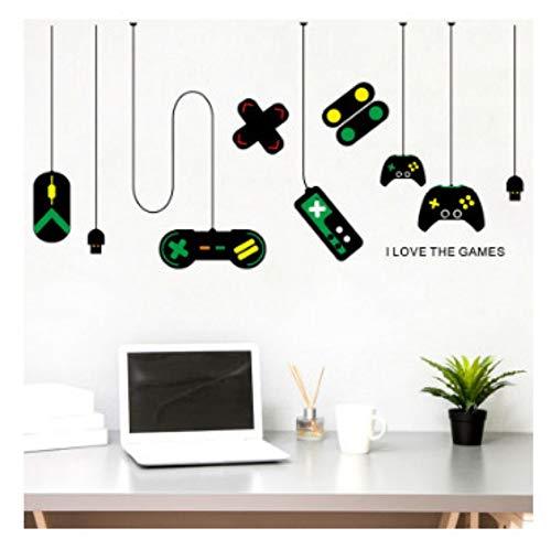 JHFVB Spielkonsole Spiel Griff Dekoration Kronleuchter Wandaufkleber Internet Cafe Studie Computer Schreibtisch Hintergrund Aufkleber