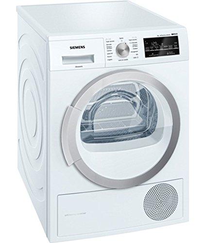 Siemens iq500 Asciugabiancheria a Pompa di Calore, Metallo, Bianco, 60x60x84.2 cm