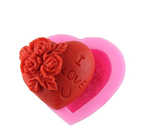 F-cup Cookies (fablcrew Soft Jelly Kuchen Form Silikon Rose Love Chocolate Form Seife Pudding DIY Kuchen Cookie Mould)
