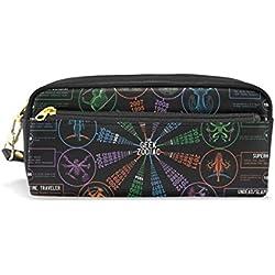 BENNIGIRY Astrology Love Chart Geek Zodiac - Estuche para bolígrafos, monedero, con cremallera, para estudiantes de la escuela, bolsa de cosméticos de viaje pequeña