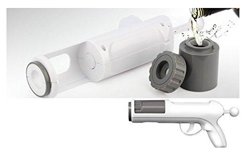 Thumbs Up BBZALSHTGUN Alkohol Shot Gun Barbuzzo, Kunststoff, weiß, 13 x 28 x 6 cm