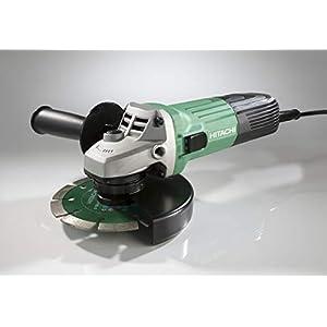 Hitachi G13STAYL – Amoladora angular (12000 RPM, Negro, Verde, M14, 88 dB, 7,9 m/s², Corriente alterna)