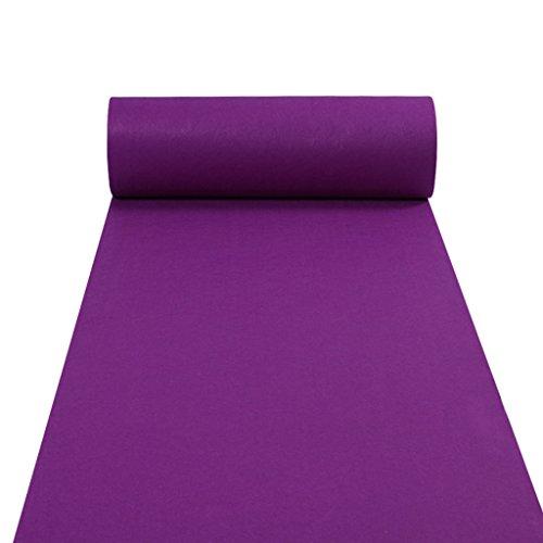 (Teppichläufer für Hall Stair Party Hochzeit Hochzeit Aisle Carpet Runner Teppich Floor Runner Echtes Lila (Color : Purple, Size : 1m*50m))