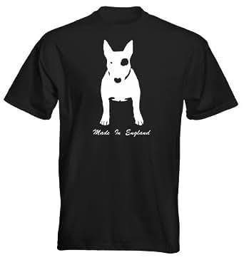 Velocitee Mens Premium T-Shirt English Bull Terrier Made in England S Black