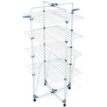 Gimi Modular 4 Tendedero de pie de torre, de acero, 40 m de longitud de tendido