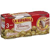 La Española Clásicas Aceitunas Verdes Rellenas de Anchoa - Pack de 3 x 120 g - Total: 360 g