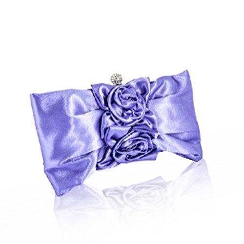 Zarla Pinzhi-frizione, con motivo floreale, da donna, per abiti da sera Sera UK Viola (viola)