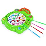 Blossom Fishing Game with Music (Random Color) Fishing Competition Game for Kids 4 Player Game
