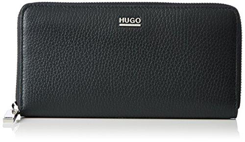 HUGO Damen Nave-r 10195833 01 Geldbörse, Schwarz (Black), 19 x 10 x 1.5 cm (Logo Handtaschen Gucci)