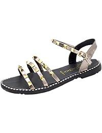 FELZ Zapatillas Zapatos de Playa Zapatos de Verano para Mujer Mocasines Planos Sandalias Zapatos de Mujer