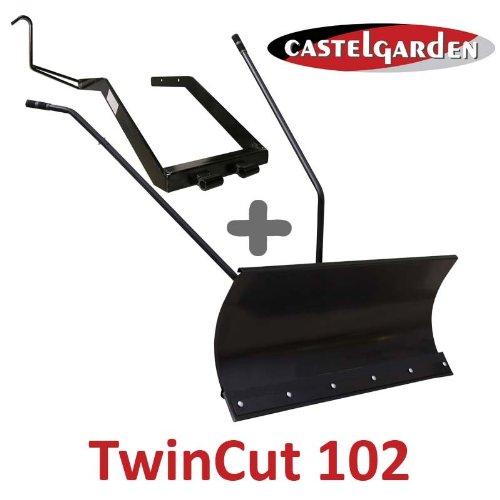 Lame à Neige 118 cm Noire + adaptateur pour Castelgarden Twincut 102